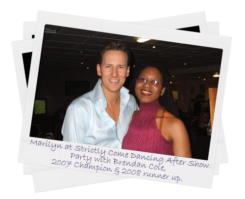 Marilyn with Brendan Cole