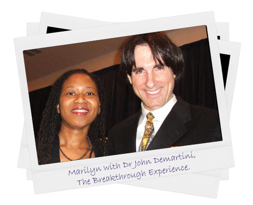 Marilyn with Dr John Demartini