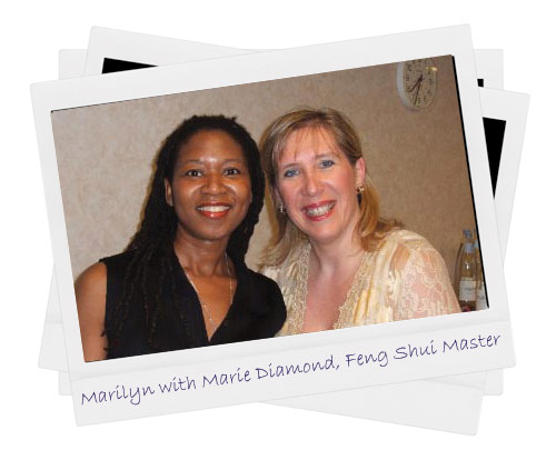 Marilyn with Marie Diamond, Feng Shui Master, star of The Secret